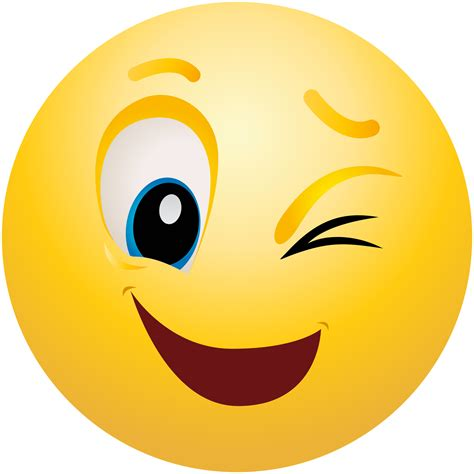 Winking Emoticon Emoji Clipart Info