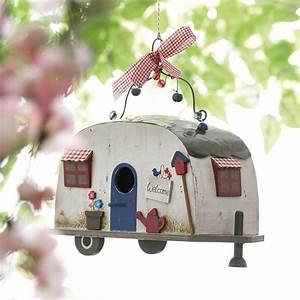 Vogelhaus Zum Hängen : vogelhaus wohnwagen retro aus holz zum h ngen bei impressionen gardening bird houses ~ Orissabook.com Haus und Dekorationen