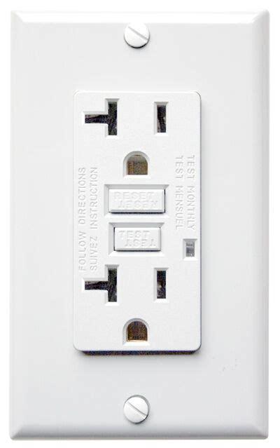 gfci gfi  amp resistant outlet receptacle ul  ebay
