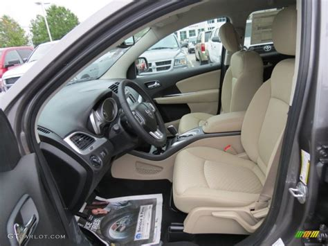 Black/Light Frost Beige Interior 2013 Dodge Journey SXT