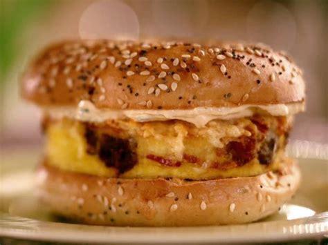 the kitchen sink recipes kitchen sink frittata bagel sandwich recipe jeff mauro 6078