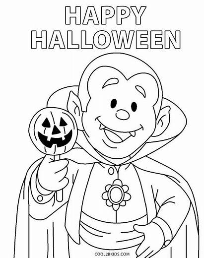 Halloween Coloring Toddlers Printable Easy Tulamama