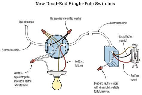 wiring  single pole light switch diagram wiring diagram