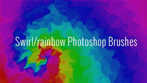 swirlrainbow photoshop brushes  vector eps
