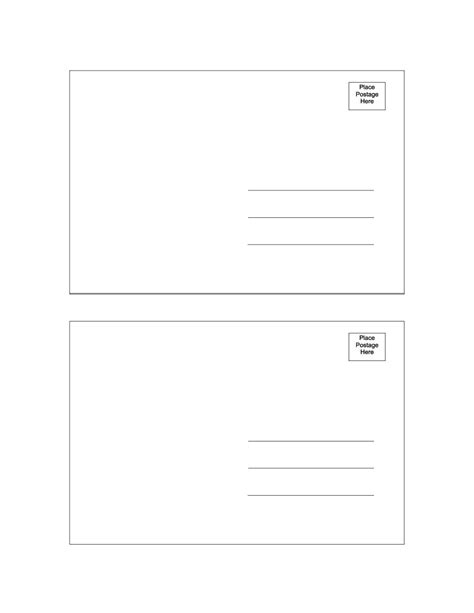 template for 40 great postcard templates designs word pdf template lab