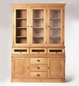 Meuble Bibliothèque Bois : vaisselier cir miel 5 portes 3 trappes vitr es made in meubles ~ Teatrodelosmanantiales.com Idées de Décoration