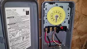 How To Wire Connect Intermatic Pool Pump Timer Simple