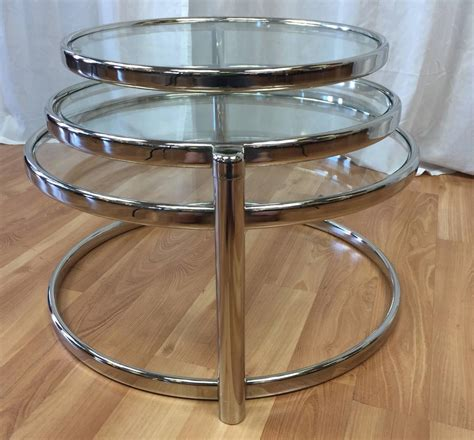 With over 5 lots available for antique milo baughman tables and 4 upcoming auctions, you won't want to miss out. Milo Baughman Style Swiveling Nickel and Glass Coffee Table ***SOLD*** - Past Perfect