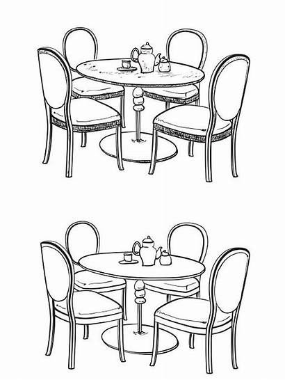 Table Drawing Sketch Dinner Furniture Kitchen Tables