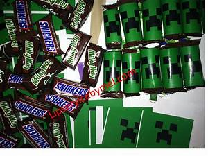 9 Best Images Of Printable Minecraft Birthday Favors