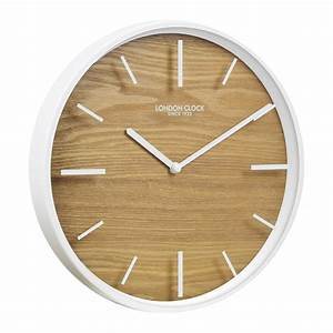 Buy Skog White Case Glass Wall Clock Online