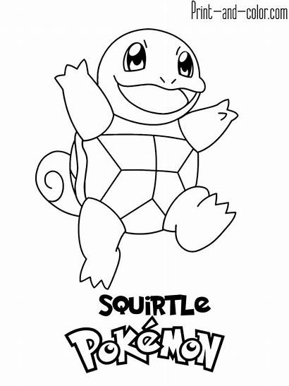 Pokemon Coloring Pages Squirtle Boys Gen Generation