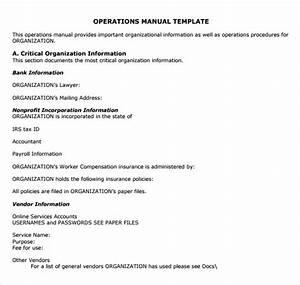 Operation Manual Templates  U2013 Laustereo Com