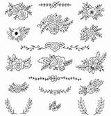 Posies Bouquets Ai Illustrations Embroidery Flowers Drawing Posy sketch template
