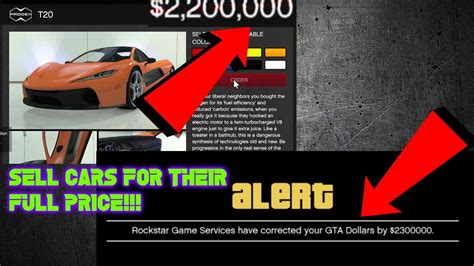 Gta 5 Online Sell Cars For The Price You Bought Them For
