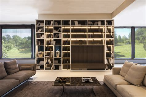 libreria poliform libreria modello wall system di poliform linea