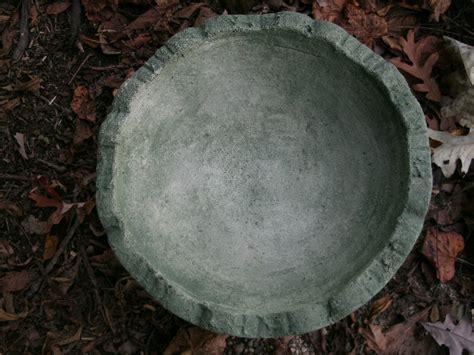 vintage cement 12 quot x7 classice bowl bird bath garden statue