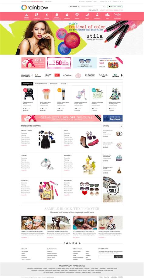 magento modern theme demo magento themes for ecommerce websites design graphic design junction