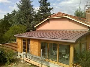 Extension ossature bois et toiture cintrée à Vienne Charpente 38 : Entreprise AFD Structure
