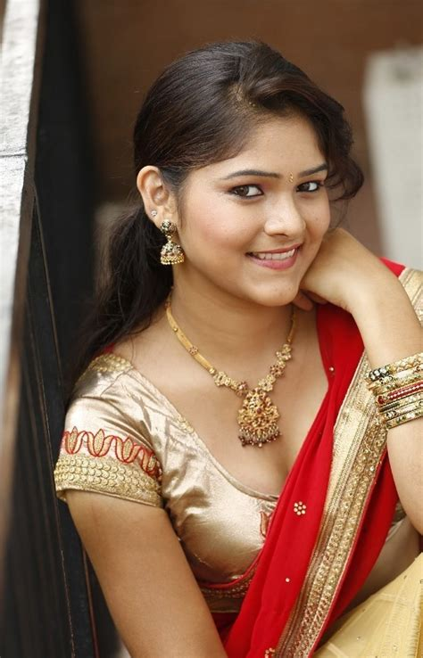 Telugu Actress Haritha In Red Saree