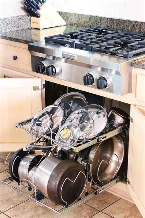 cabinet organization for pots and pans kitchen cabinet pots and pans organization kevin