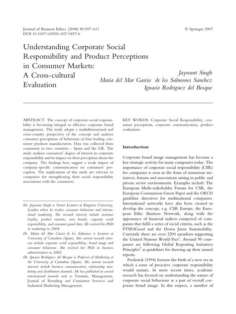 (PDF) Understanding Corporate Social Responsibility and
