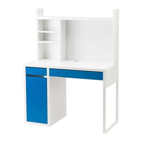 sur bureau ikea ikea micke poste de travail blanc bleu blanc vous