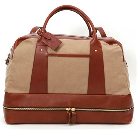 leather weekender bag with shoe compartment r6 by 6876 weekender bag the carry
