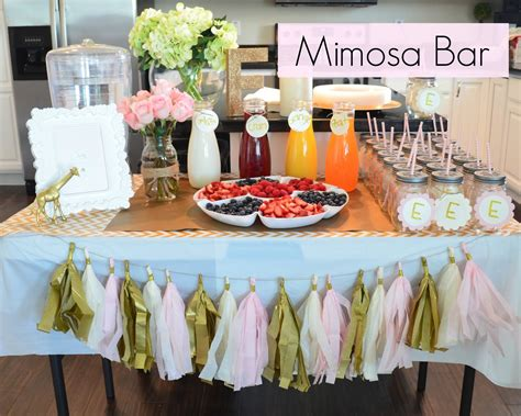 mimosa bar bridal shower my best friend s blog all that glitters is gold baby shower breakfast