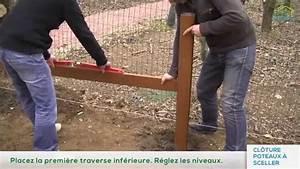 Comment Fixer Un Poteau Bois Au Sol : installation d 39 une cl ture avec poteaux sceller par ~ Dailycaller-alerts.com Idées de Décoration
