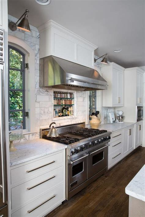 Lovely Country Kitchen Decor Features Stainless Steel