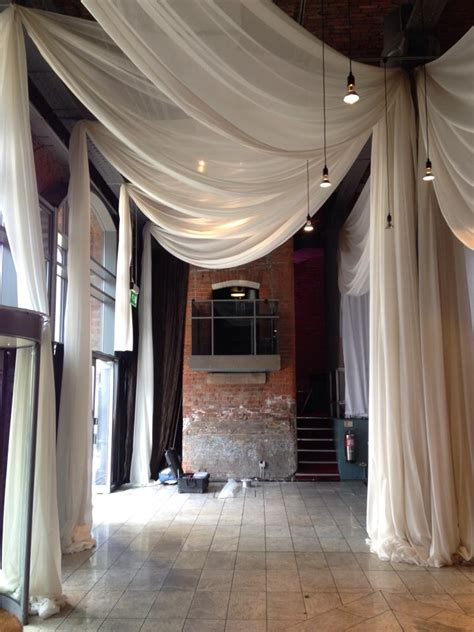 ceiling drapes  weddings