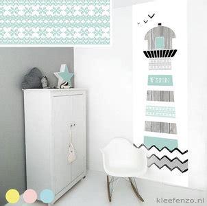 muursticker babykamer vuurtoren zwart wit