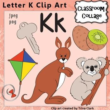 colors starting with k alphabet clip letter k items start with k color