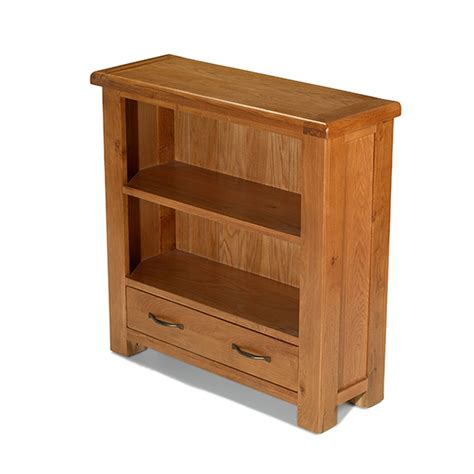 Small Bookcase With Drawers by Solid Oak Furniture Small Low Bookcase With Drawer