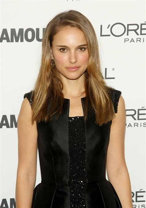 Natalie Portman Long Straight Cut Natalie Portman Hair