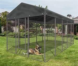 Chenil Extérieur Pour Chien : kit chenil pour chien galva avec toit m2 animaloo ~ Melissatoandfro.com Idées de Décoration