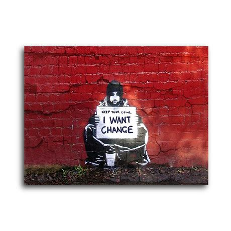 banksy for sale canada change wanted 14 quot w x 11 quot h banksy touch of modern
