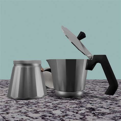 The very popular italian coffee maker known as moka pots is still in use these days. italian coffee kettle 3d max