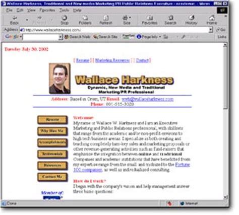 personal website resume exles
