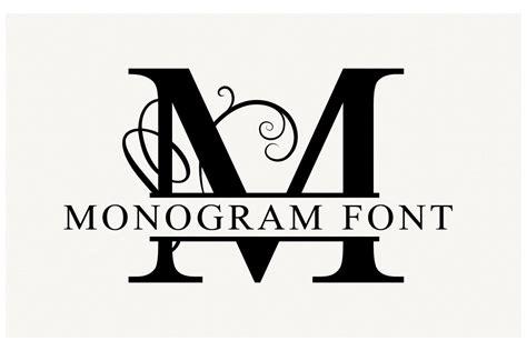 split monogram font vectors medialoot