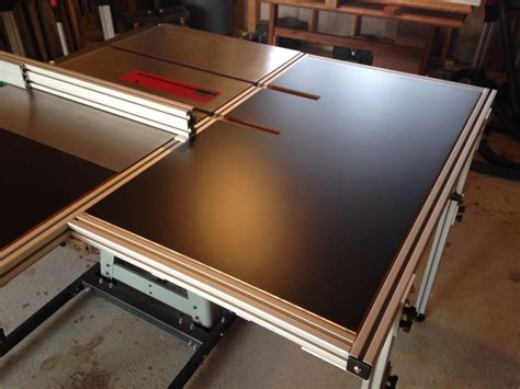 table  folding outfeed table table  diy table