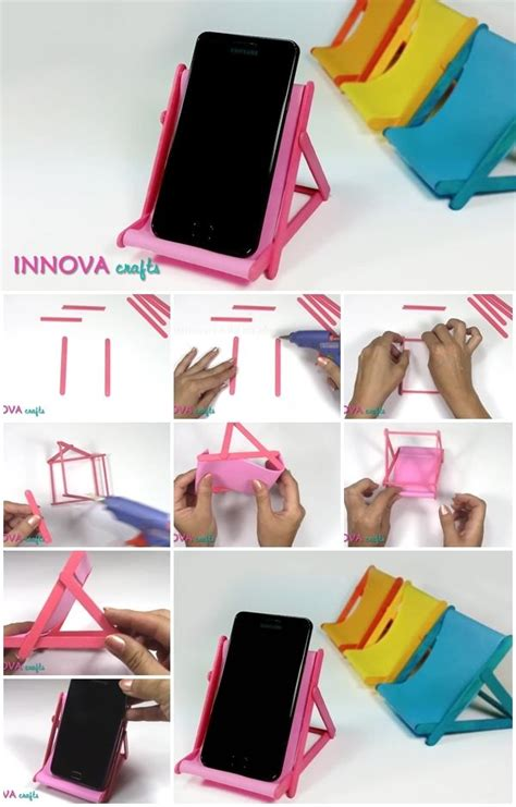 ice cream sticks phone holder usefuldiycom