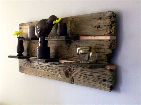 rustic reclaimed barn wood wall shelf  thebarnyardshop
