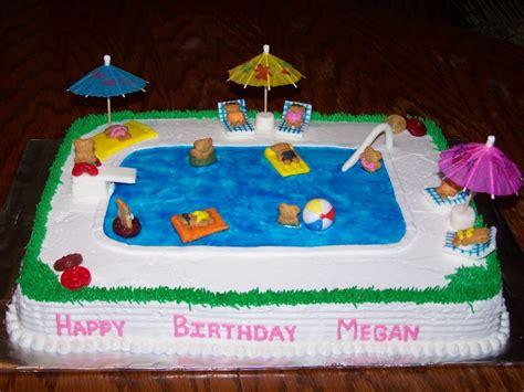 cake ideasswimming pool theme swimming pool theme cakes