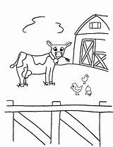 Coloring Animals Farm Pages Animal Printable Cow Print Crayon Action Sheets Toddlers Colouring Bestcoloringpagesforkids Baby La Books Related Barn sketch template