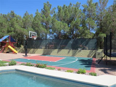 outdoor attractive swimming pool basketball hoop