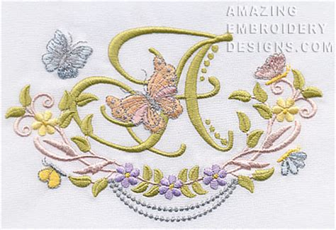 embroidery design letter