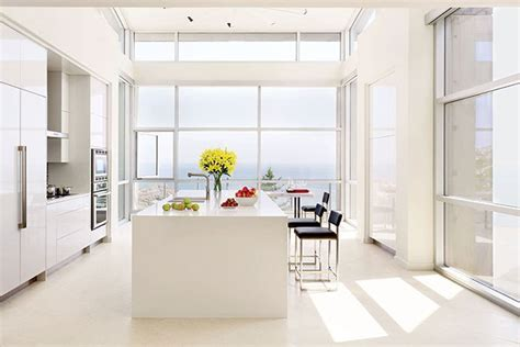 kitchen island with built in table 35 sleek and inspiring contemporary kitchens photos