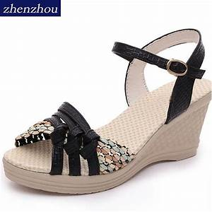 Free shipping Women's shoes 2017 summer women's wedges ...